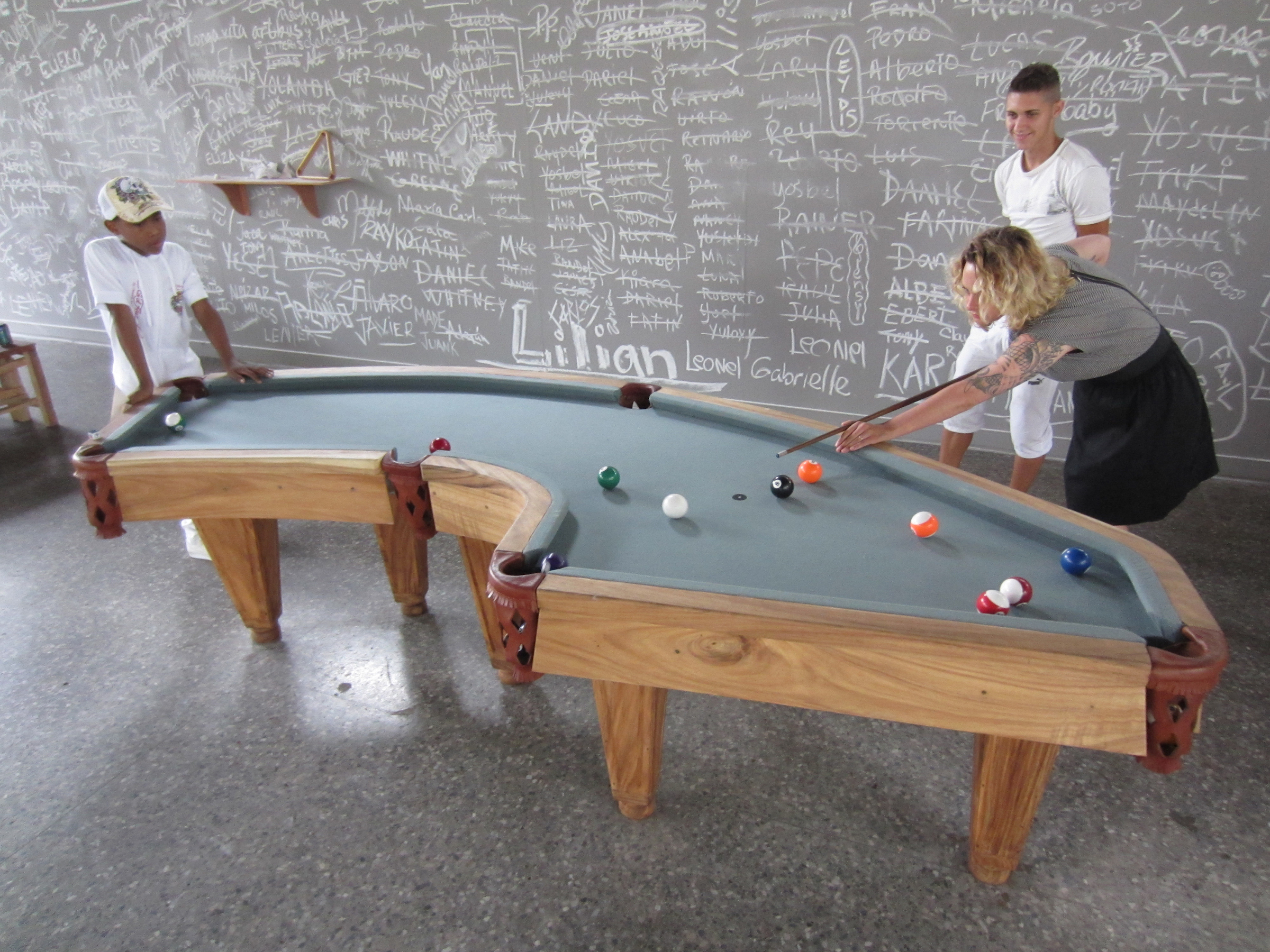 Yes this Cuba shaped pool table is art