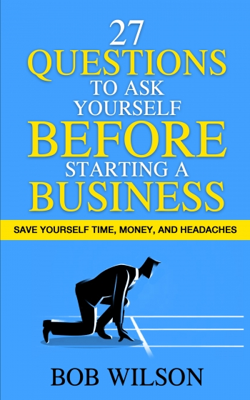 """Book cover for """"27 Questions to Ask Yourself Before Starting a Business"""""""