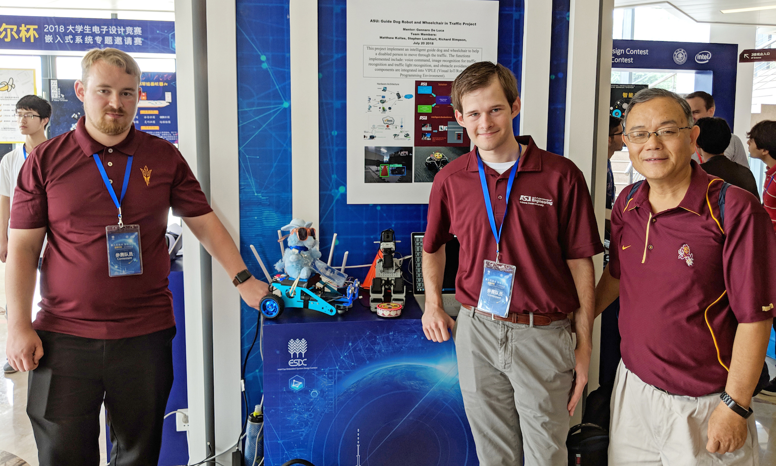 Robotic guide dog leads ASU team to 1st prize at Intel Cup