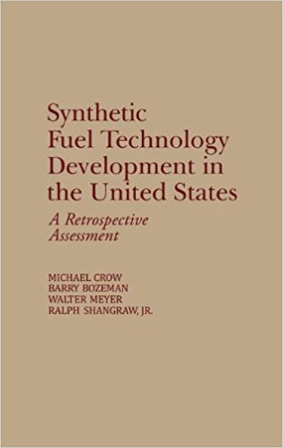 """""""Synthetic Fuel Technology Development in the United States: A Retrospective Assessment"""" cover"""