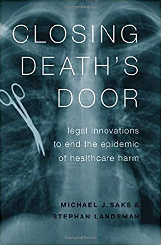 Book cover for Closing Death's Door with xray of chest that shows scissors inside