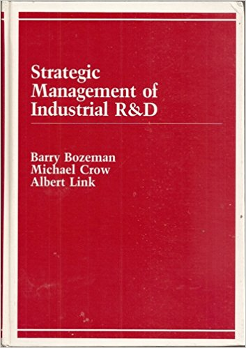 """""""Strategic Management of Industrial R&D"""" cover"""