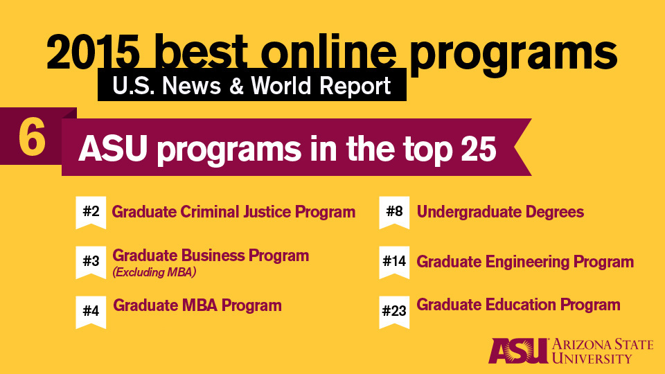 ASU a top school for online education in US News rankings