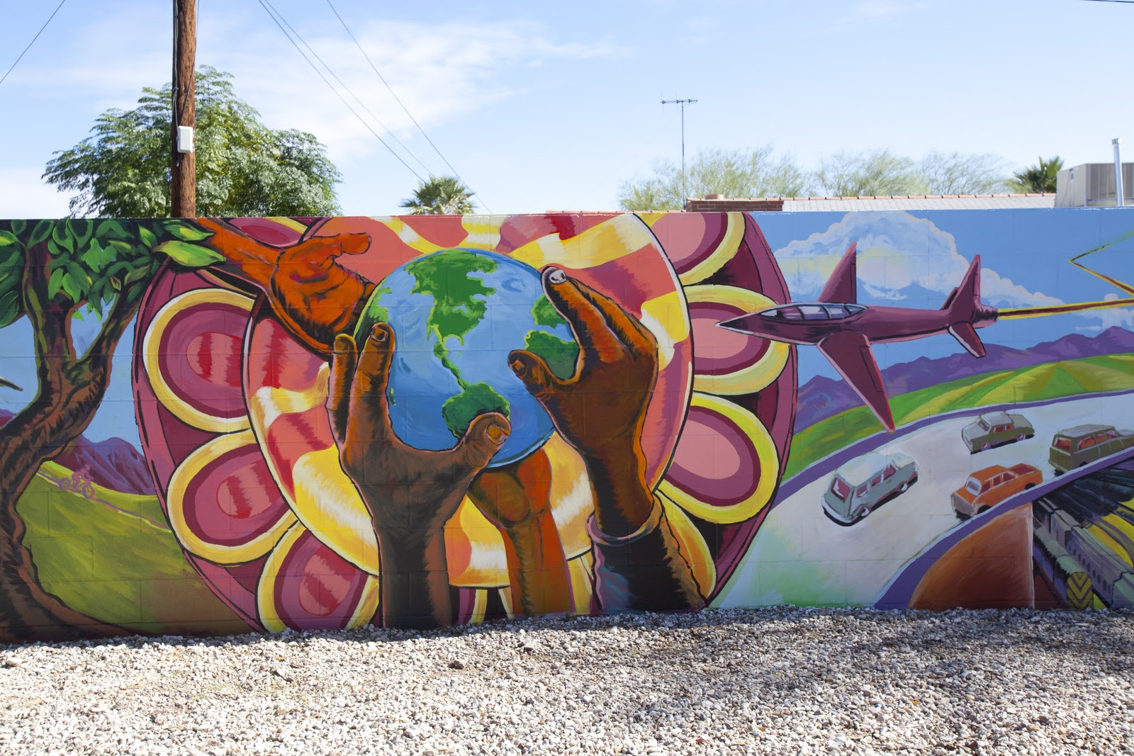Asu columbia university collaborate on hispanic for Community mural
