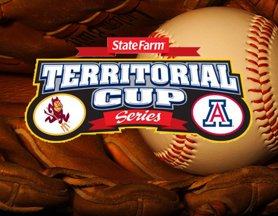 baseball takes on arizona in state farm territorial cup series game