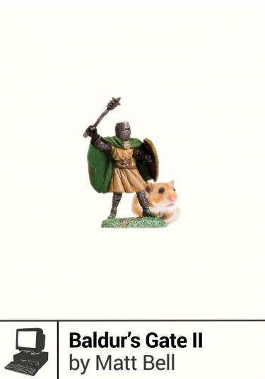 figure of a knight next to a hamster