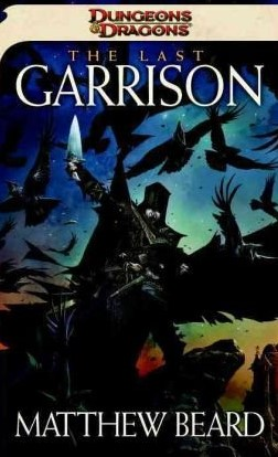 Book cover with a knight holding a sword surrounded by crows