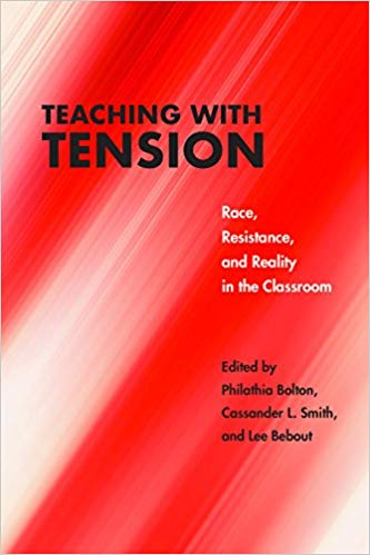"Cover of ""Teaching with Tension"" featuring a bright red background"