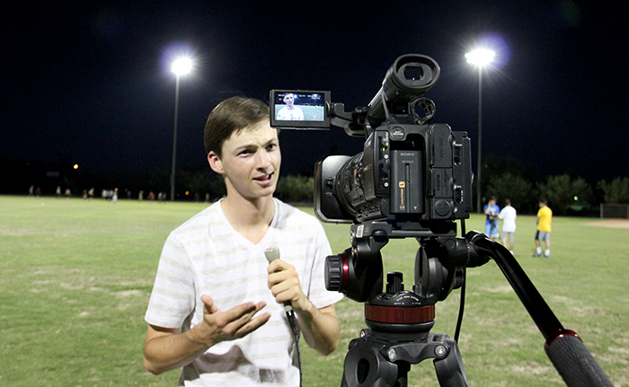 High School Students Experience Sports Broadcasting At Asu Camp   Communication Download Full Image Owl Purdue Online Writing Lab also Essays Topics For High School Students  Persuasive Essay Samples For High School