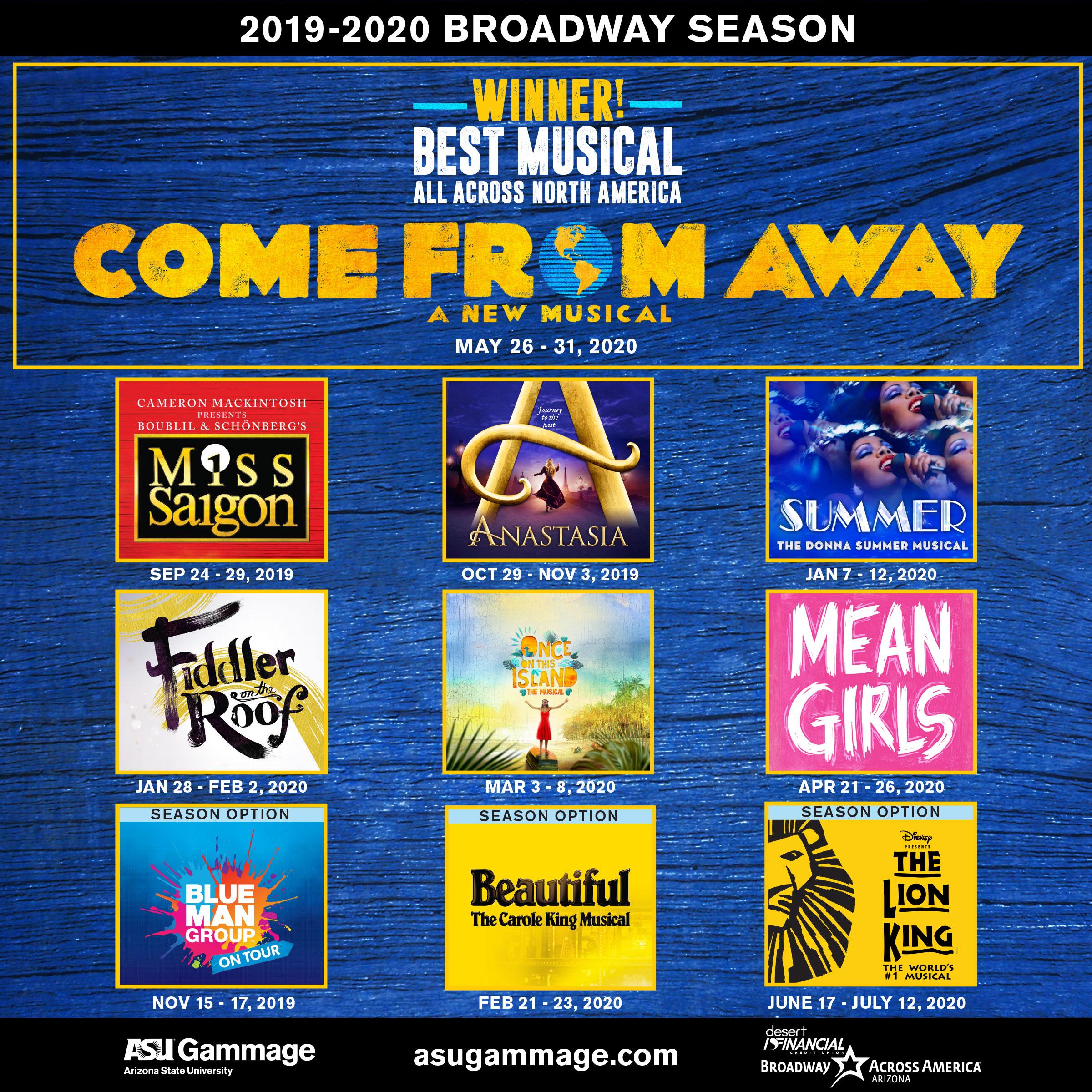 Best Broadway Musicals 2020 ASU Gammage unveils 2019 2020 Broadway season | ASU Now: Access