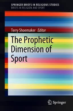 """Cover of """"The Prophetic Diension of Sport"""" featuring a rainbow color design"""