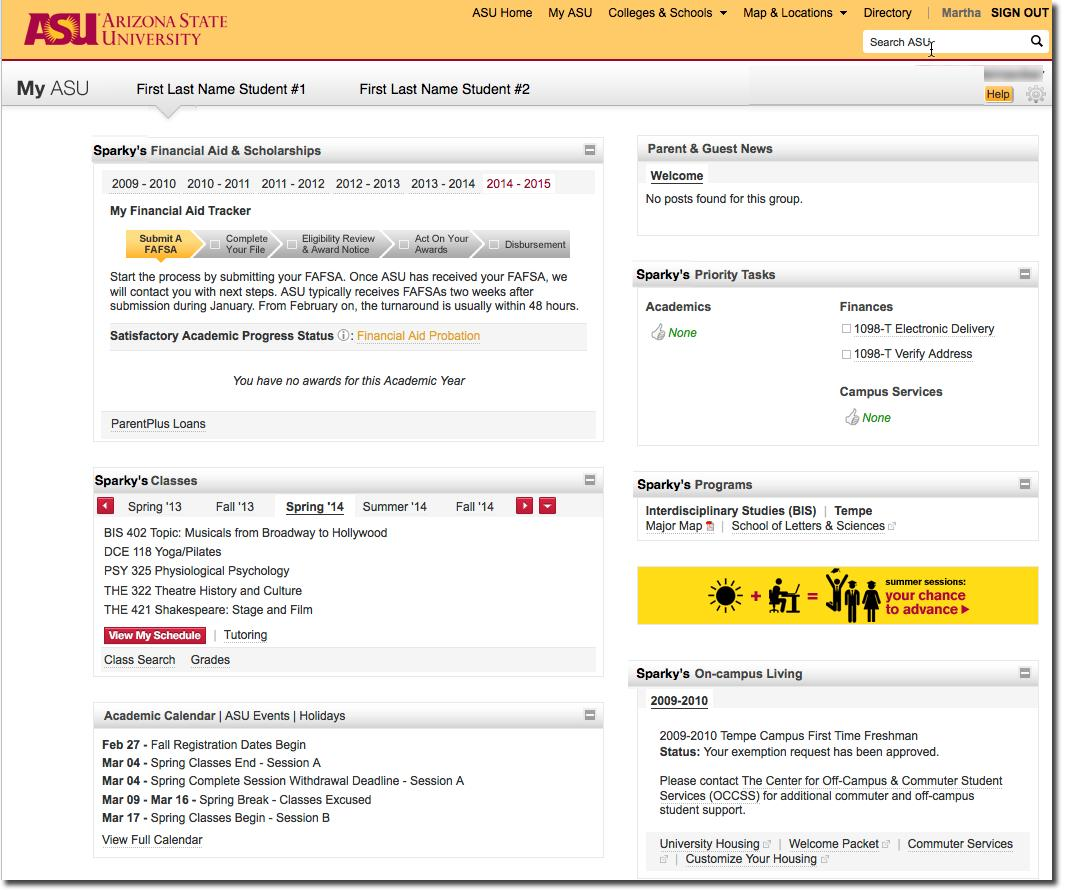 My Asu Enhanced With New Parent Guest Access Feature Asu Now