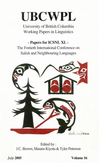 Cover of ICSNL XL edited by Brown, Kiyota and Peterson