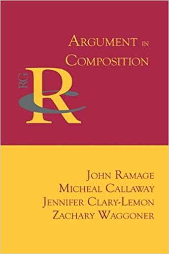 "Cover of ""Argument in Composition"" featuring a yellow and red background"