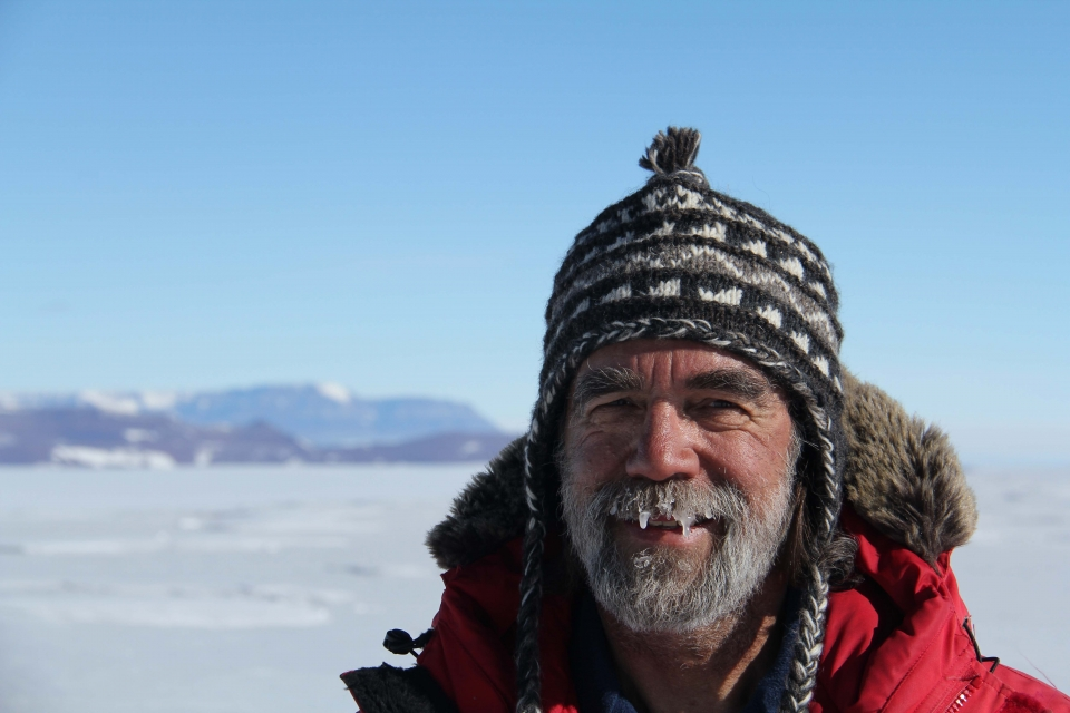 Ed Stump in the field in Antarctica