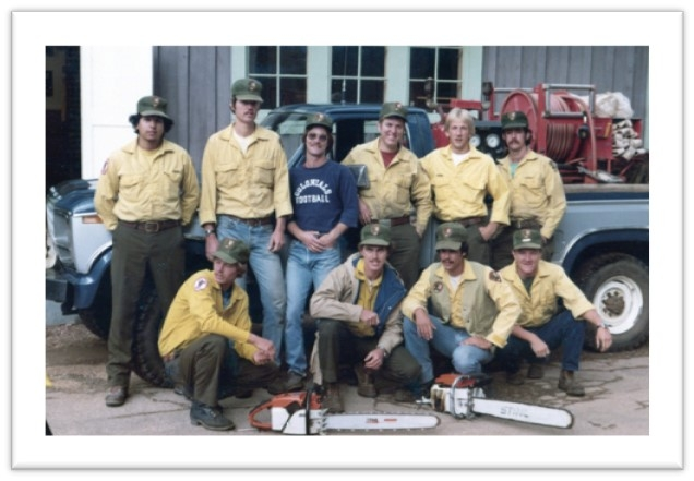 Stephen Pyne and the North Rim Longshots crew in 1978.