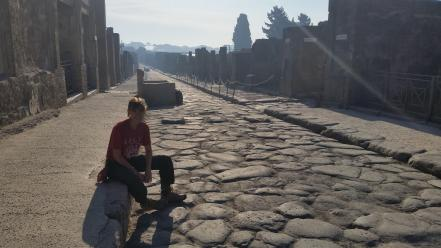 photo of Alexa Rose in Pompeii
