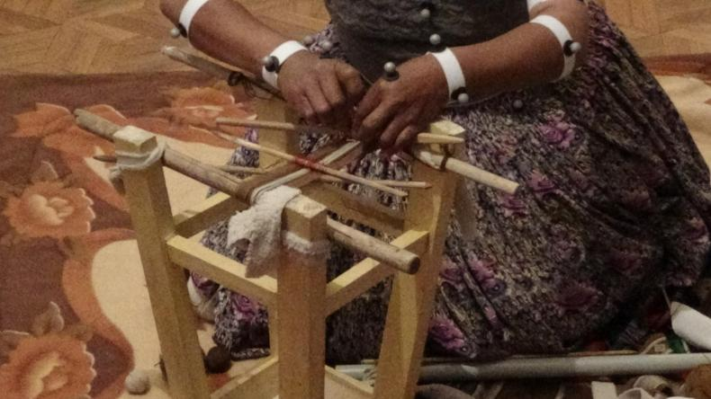 photo of Aymara woman weaving