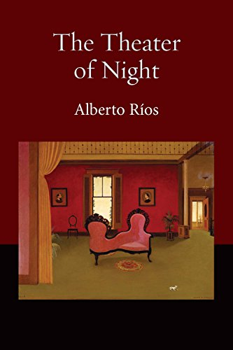 """Cover of """"Theater of Night"""" featuring an illustration of a red and green living room"""