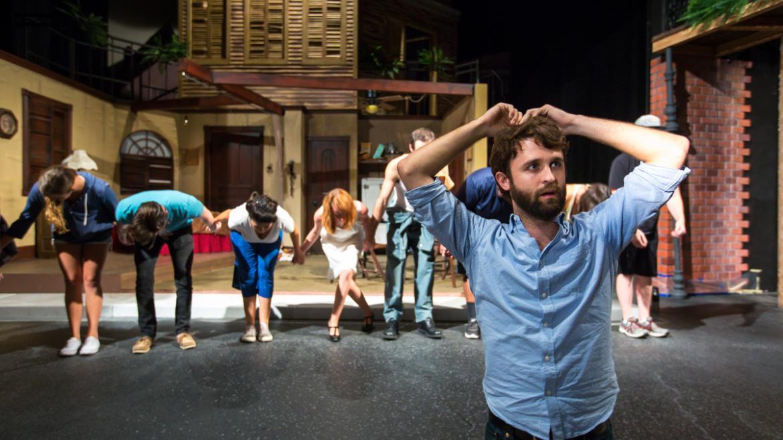 actors rehearsing for ASU Streetcar Named Desire performance