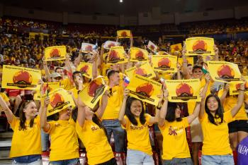 international students during Sun Devil Welcome