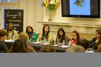 Panelists at the March 26 'Beyond the Hijab' event