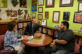 ASU's Irma Arboleda and Steven Borden talk with Tomas Robles