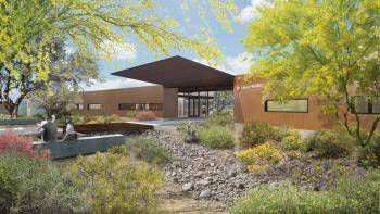 schematic of Liberty Wildlife Foundation's new facility entrance