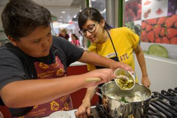 Camp CRAVE campers learn basic nutrition and cooking skills