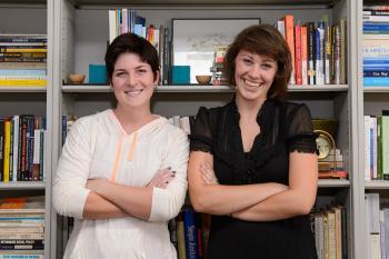 ASU seniors Kim Hutchinson and Shannon Jenkins