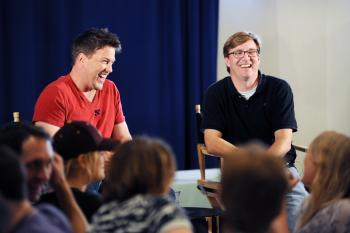 Actor Lochlyn Munro and ASU film production instructor Chris LaMont