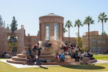 students studying on Arizona State University Tempe campus