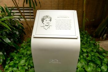 A photograph of a memorial for Mary Lou Fulton