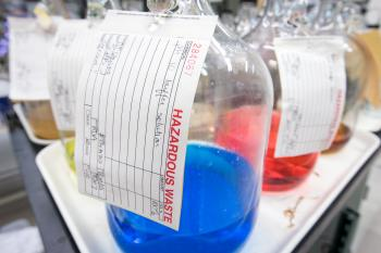 bottles in lab