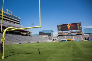 Sun Devil Stadium field