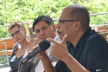 ASU faculty Terry Alford, Eduardo Pagan and Marlene Tromp