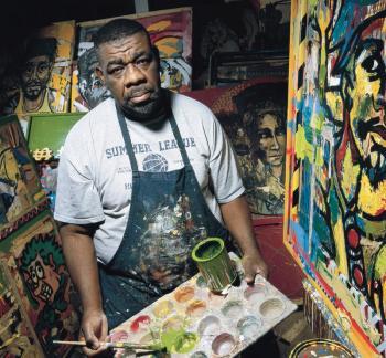 """portrait of Allen """"Big Al"""" Carter painting"""