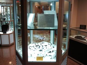 Russian meteorite display