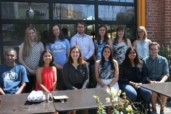 group of Barrett Fulbright students posing for picture