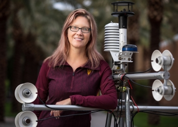 ASU professor Ariane Middel has received an NSF CAREER award for her research in the field of urban climate.