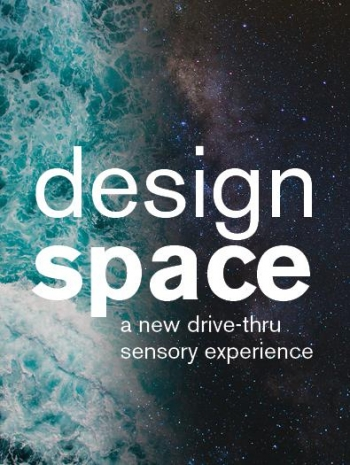 The designspace promotional image blends the sea with the stars.