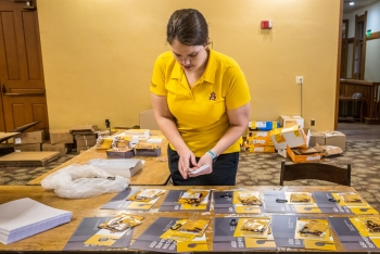 Thousands of back-to-school packs were put together at Old Main on the Tempe campus.