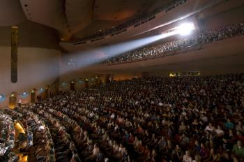 full crowd inside ASU Gammage Auditorium