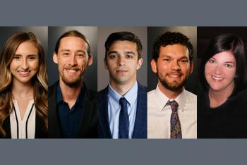 photo of ASU Law students Cecilia Nieto, David Campbell, Phillip Tomas, Riggs Brown and Lori Rutten