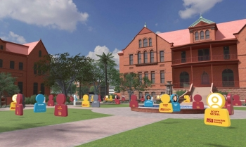 Sun Devil 100 event on the virtual campus created by PXL