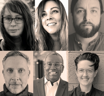 Profile shot of six new faculty. DB Bauer, Joseph Watson, Luke Kautz, Nicholas Pilarski, Ana Herruzo