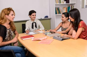 Four scholars from Yerevan State meet in seminar