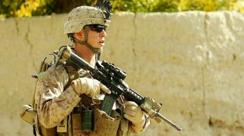 photo of James Cromley during Afghanistan patrol