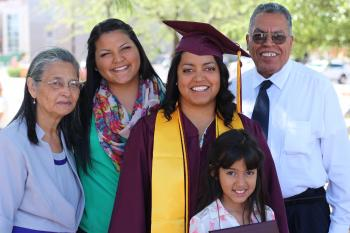 Alejandra Frost and her family