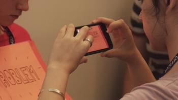 "Science communication students learn to film ""Flip Book"" videos"
